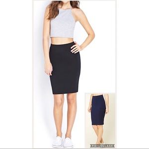 ✨Bundle of 2 Bodycon Skirts Navy Blue & Black✨